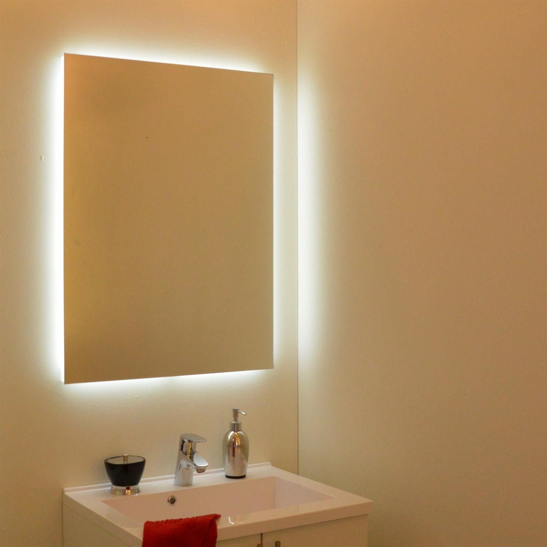 spejl med lys Spejl i moderne design | Spejl badeværelse spejl med lys