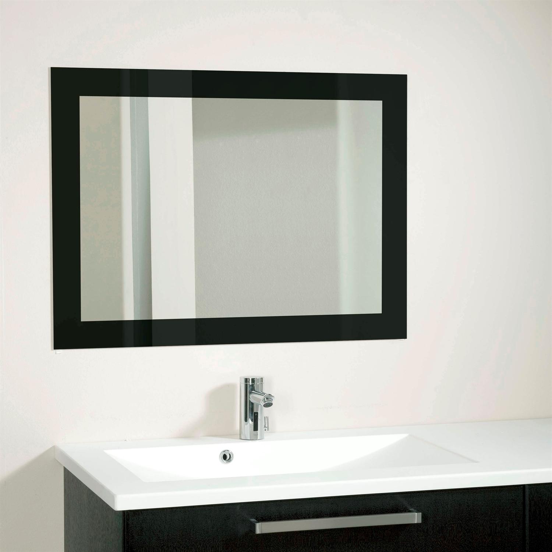 spejl til badeværelse Spejl med sort ramme skåret på mål | Spejl badeværelset spejl til badeværelse